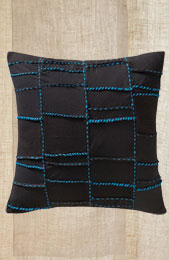 Cushion Cover -Black/Turquoise