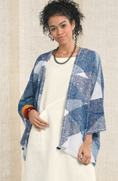 Sunita Jacket - Natural/blue