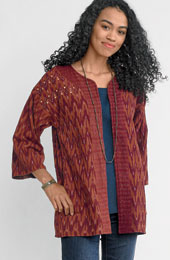 Reversible Trishna Jacket - Sandalwood/spice