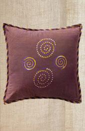 Cushion Cover - Purple 4 spiral