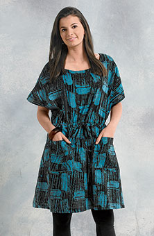 Pavani Tunic - Black/Turquoise