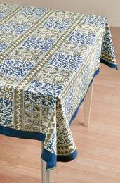 Tablecloth - Blue/Tan