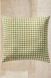 Cushion Cover - Green/Mustard