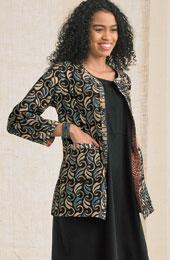 Reversible Manali Jacket - Indigo/Multi