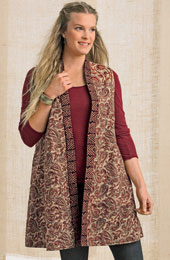 Reversible Jammu Vest - Brown/Multi
