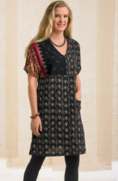 Brinda Tunic - Black/Multi