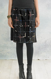 Prachi Skirt - Black/Multi