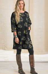 Patna Dress - Black/Wheat