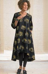 Zarine Dress - Black/Wheat
