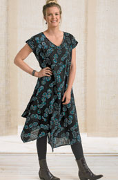 Sonali Dress - Black/Turquoise