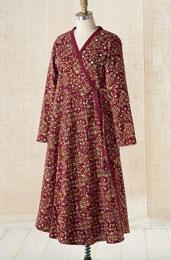 Wrap Dress - Pomegranate/Wheat