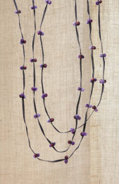 Seema Chindi Necklace - Purple
