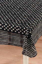 Tablecloth - Black/Maroon/Natural