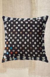 Throw Pillow - Black/Natural