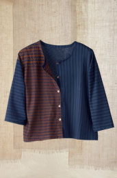 Mysore Top - Navy/Coffee