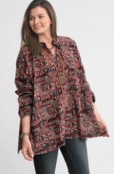 Ambala Shirt - Sage/multi