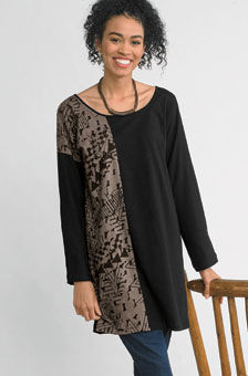Mohina Tunic - Black/stone