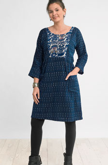 Nasreen Dress - Lapis