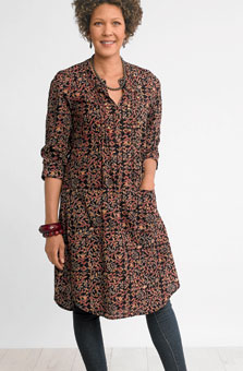 Tanvi Dress - Black/multi