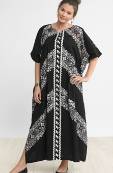 Monia Kaftan - Black/white