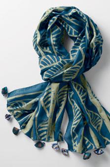 Batik Scarf - Blue/green