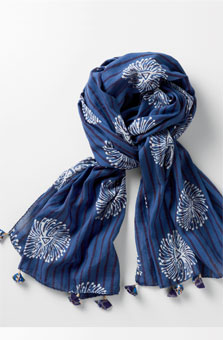 Scarf - Blue/white